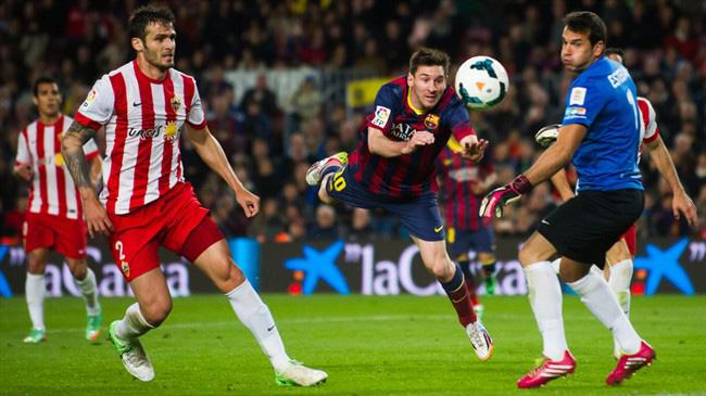 بارسلونا ۴-۱ آلمریا؛ بارسا در یک قدمی رئال مادرید