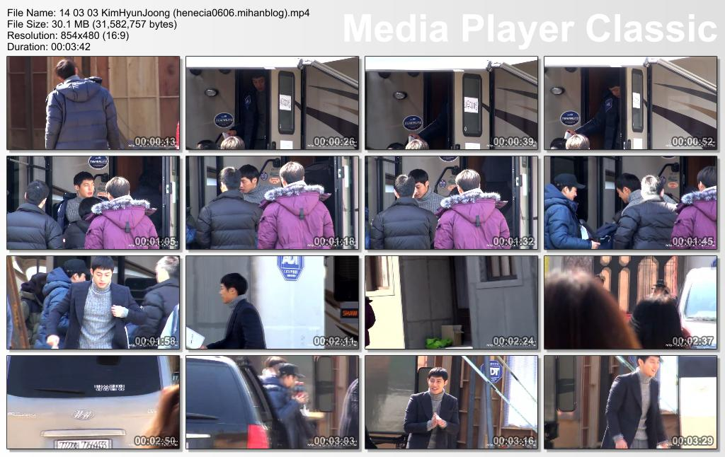 [HyunJoong Baraba Fancam] Kim Hyun Joong - Inspiring Generation Shooting in Yongin Film Set [14.03.03]