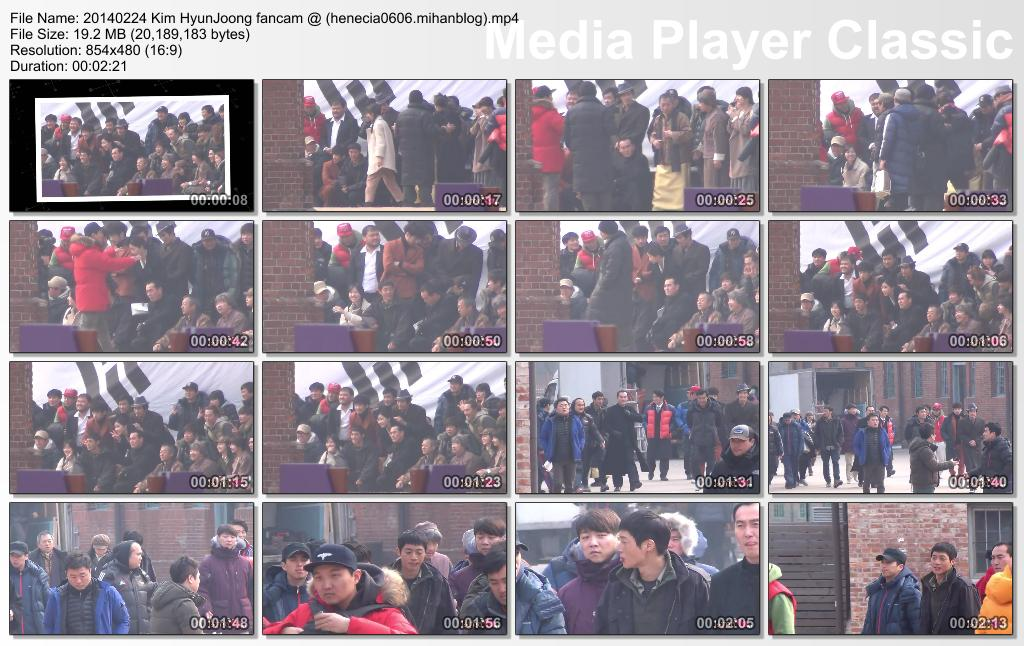[lyna HJ Fancam] Kim HyunJoong Inspiring Generation Shooting at Seodaemun [14.02.24]