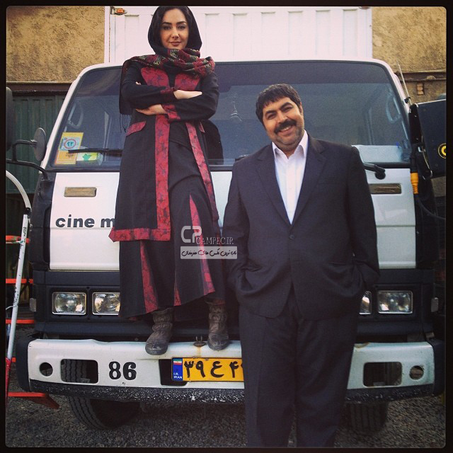 هانیه توسلی و فرهاد اصلانی در پشت صحنه شاهگوش