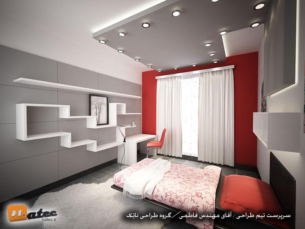 نمونه کار شماره 3 طراحی اتاق خواب از ناتک