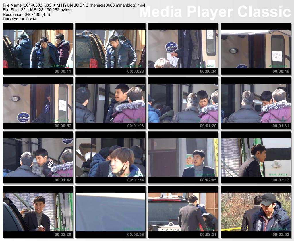 [Fancam] Kim Hyun Joong - Inspiring Generation Shooting in Yongin Film Set [14.03.03]