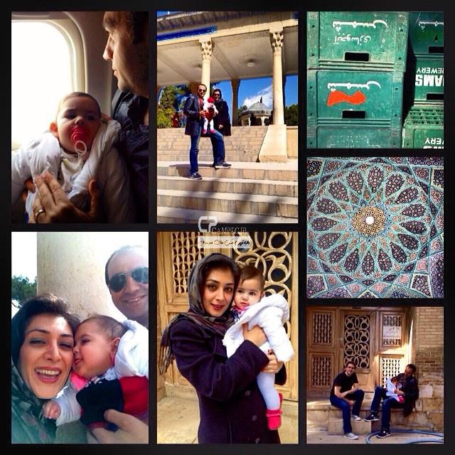 آرش مجیدی و همسرش ملیشا مهدی نژاد