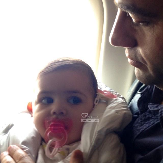 آرش مجیدی و فرزندش