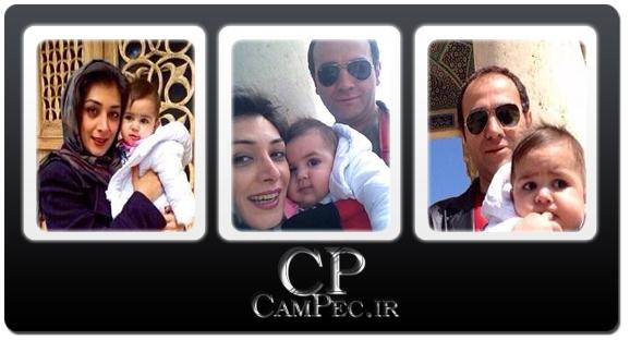 عکس های جدید آرش مجیدی و همسرش ملیشا مهدی نژاد و فرزندشان