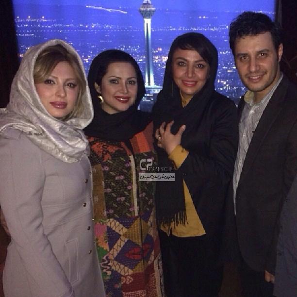 جواد عزتی و همسرش مه لقا باقری،کمند امیر سلیمانی،نیوشا ضیغمی