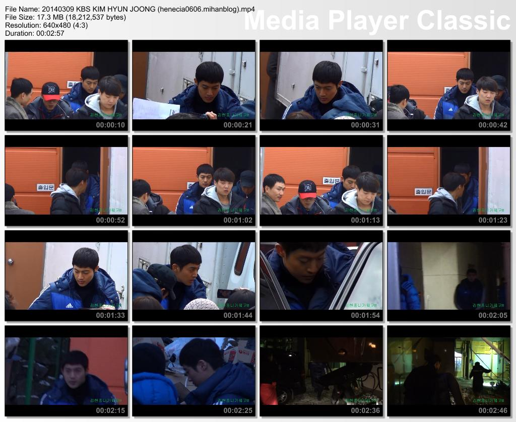 [Fancam] Kim Hyun Joong Inspiring Generation Shooting in Icheon Film Set [14.03.09]