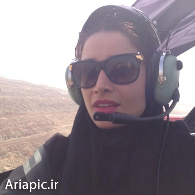 عکس های جدید تینا آخوندتبار سوار بر هواپیما