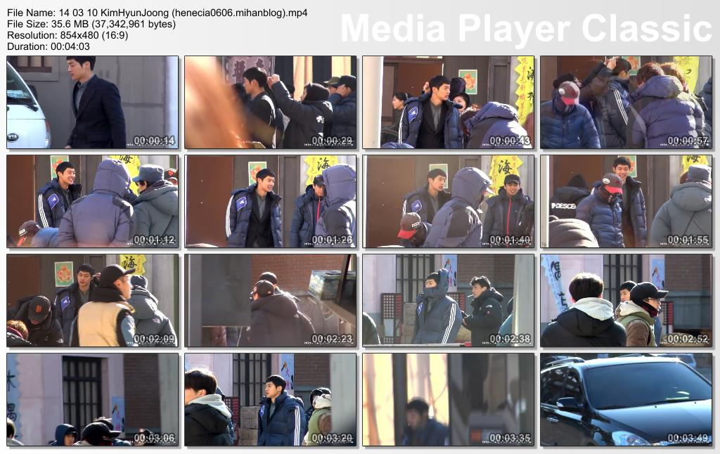 [HyunJoong Baraba Fancam] Kim Hyun Joong Inspiring Generation Shooting in Yongin [14.03.10]