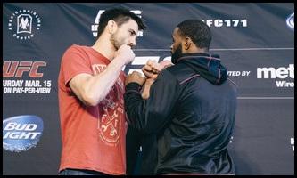 03.13.2014 : پیش بینی GSP | تایرن وودلی | هندریکس در کلاس Middleweight