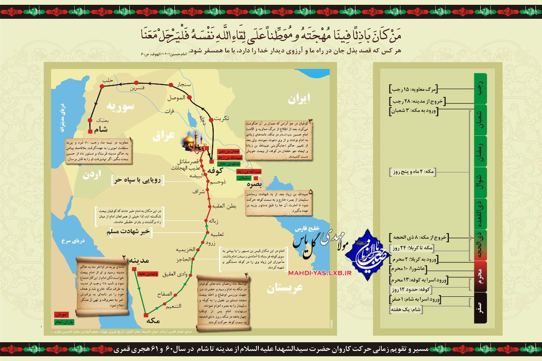حرکت امام حسین (ع) از مدینه به مکه،از مکه تا کربلا