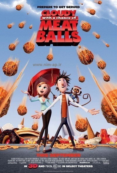 coudy1 دانلود انیمیشن Cloudy With A Chance of Meatballs 2009