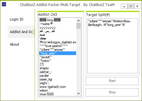 Chatbuzz Addlist Fucker Multi Target Fhrh