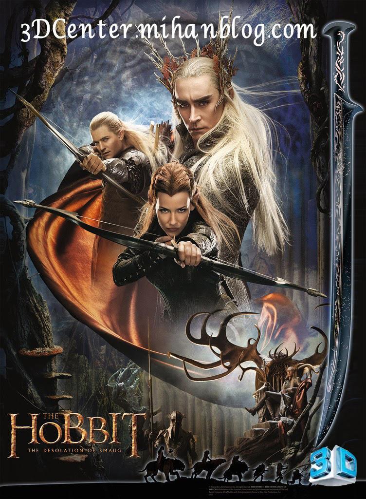 دانلود فیلم سه بعدی The Hobbit: The Desolation of Smaug 2013