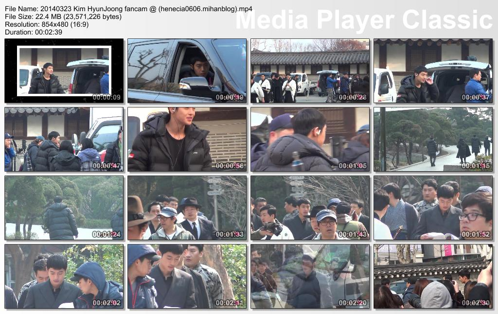 [Fancam] Kim Hyun Joong Inspiring Generation Shooting in Unhyeongung [14.03.23]