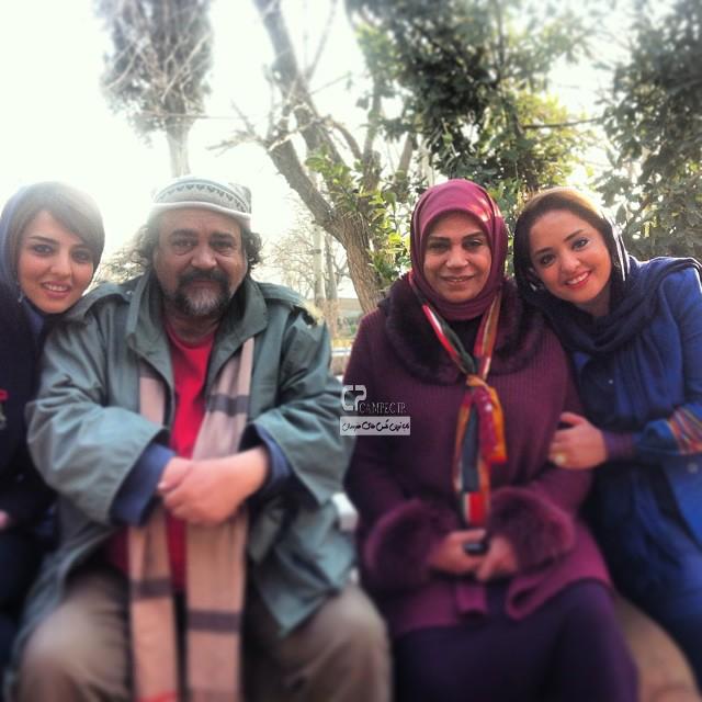 نرگس محمدی،گوهر خیراندیش و محمد رضا شریفی نیا در پشت صحنه سریال ما فرشته نیستیم