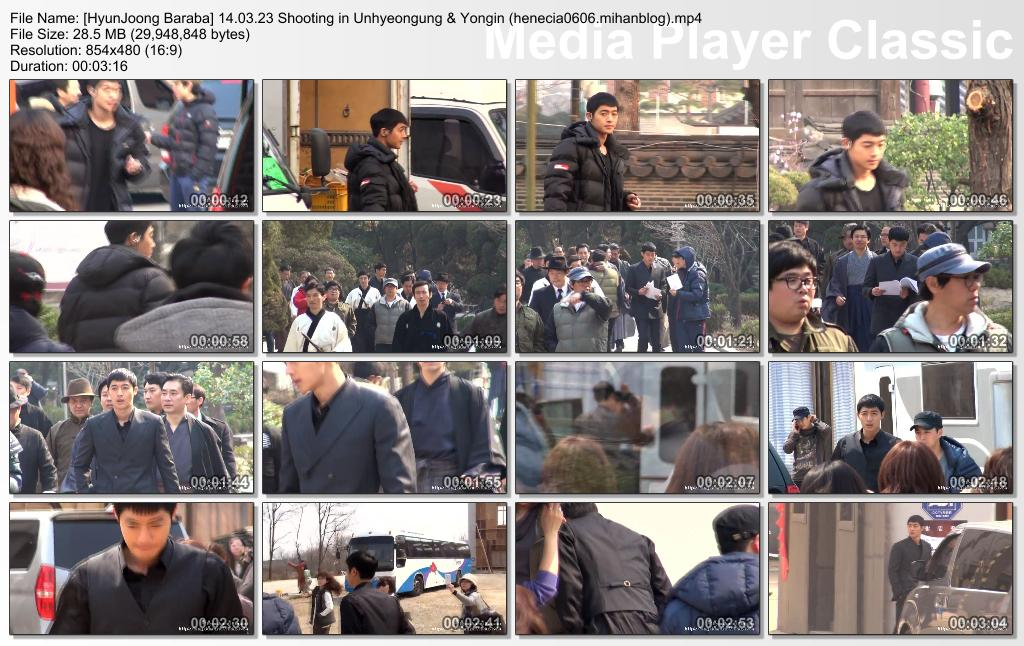 [ Kim Hyun Joong Inspiring Generation Shooting in Unhyeongung & Yongin Film Set [14.03.23