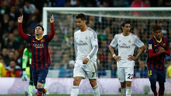 پيروزي بارسلونا مقابل رئال مادريد در برنابئو