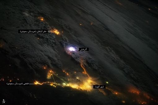 تصویر آذرخش از نگاه ساکنان فضا