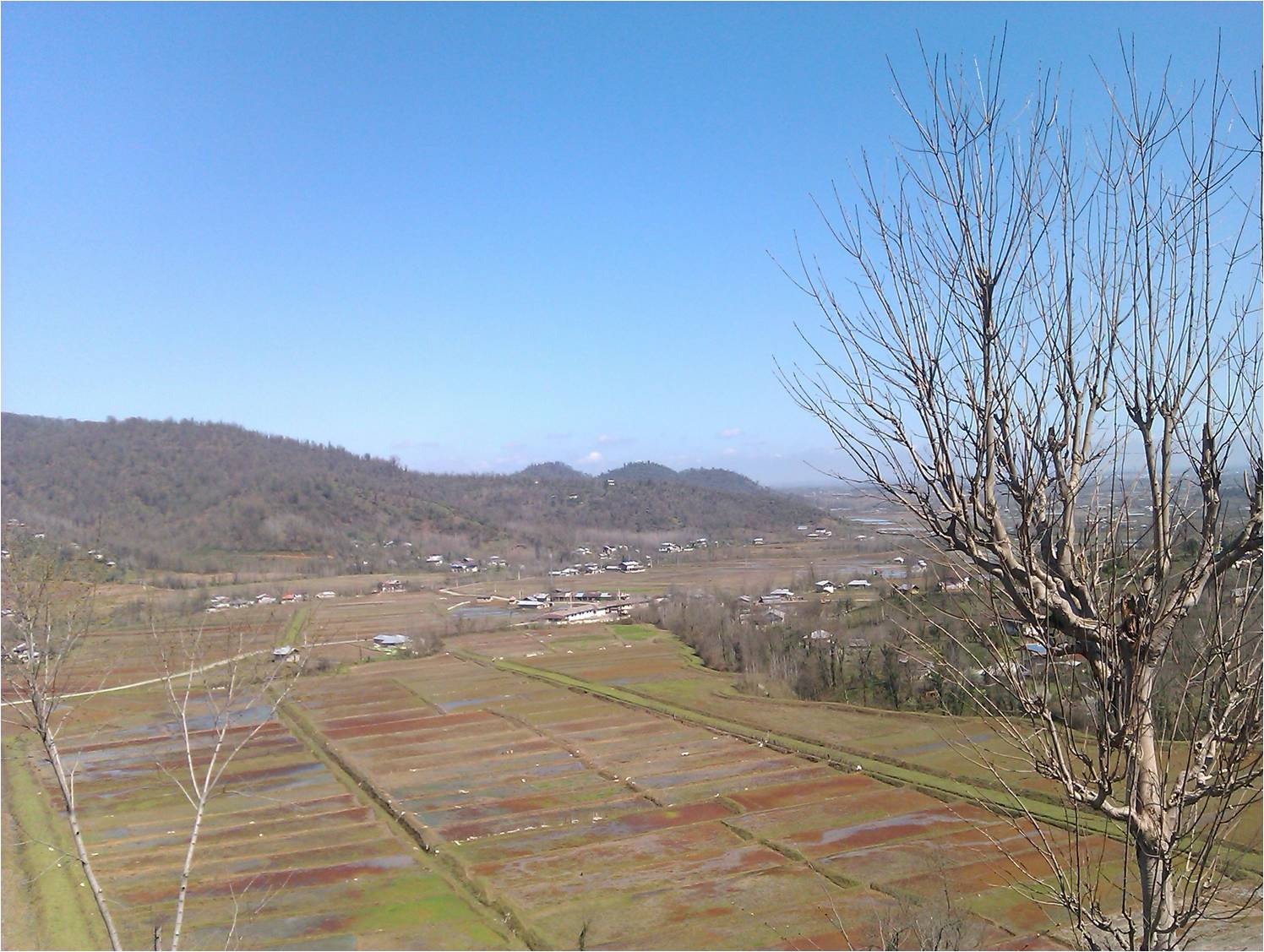 مرکز روستای شولم از نمای دور