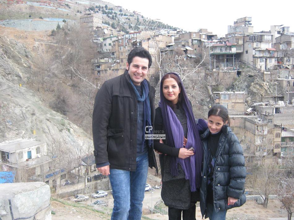 بهنام قربانی و همسر و فرزندش