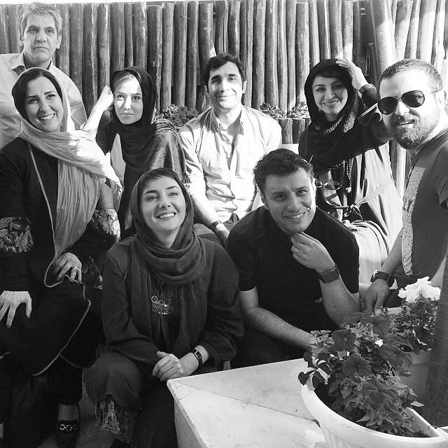 هومن سیدی،جواد عزتی و همسرش،هانیه توسلی،پریناز ایزدیار،هادی کاظمی،مرجانه گلچین