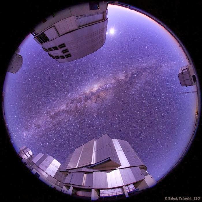 کهکشان راه شیری در سپیده دم