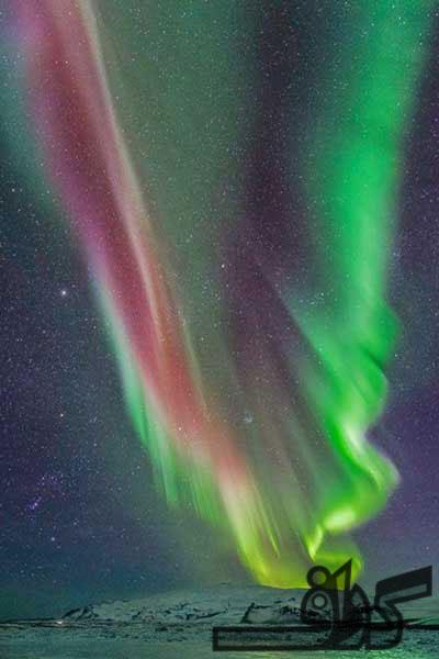 شفق در آسمان ایسلند
