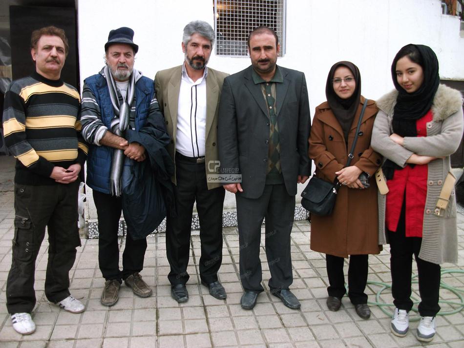 احمد مهران فر و سیروس مقدم در پشت صحنه سریال پایتحت3