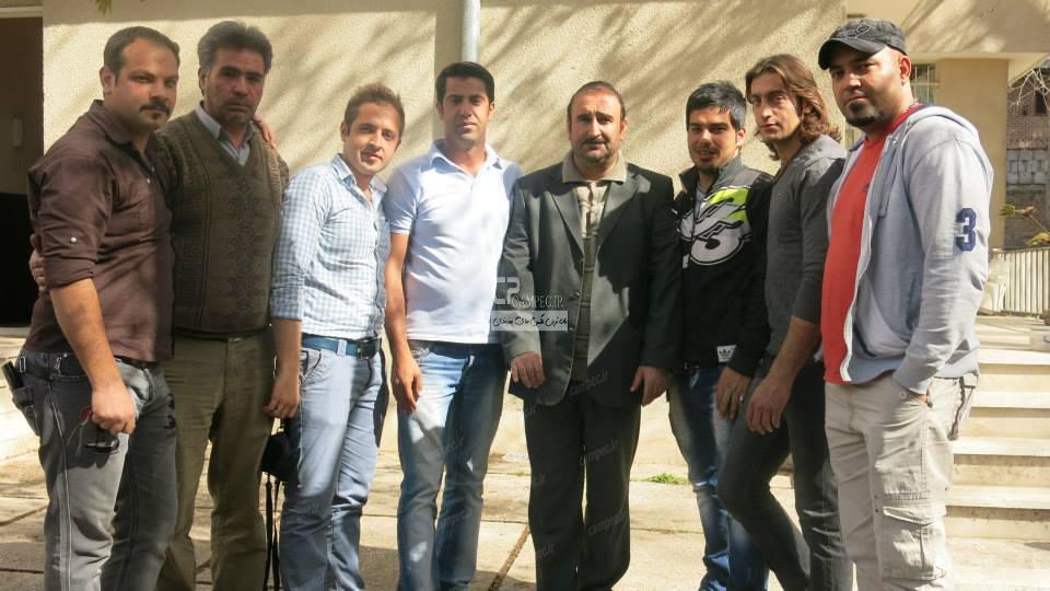 مهران احمدی در پشت صحنه سریال پایتخت3