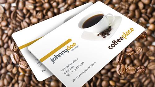 لایه باز کارت ویزیت قهوه