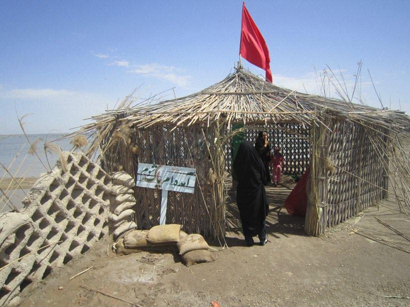 55  یادمان شهدای هور ، مقتل شهید علی هاشمی ، جزیره مجنون