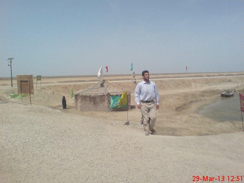 66  یادمان شهدای هور ، مقتل شهید علی هاشمی ، جزیره مجنون