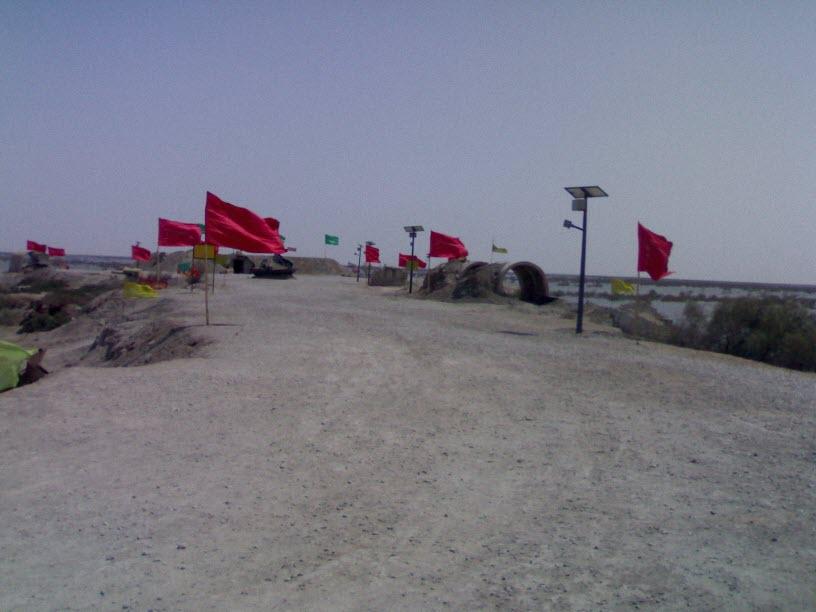 71  یادمان شهدای هور ، مقتل شهید علی هاشمی ، جزیره مجنون
