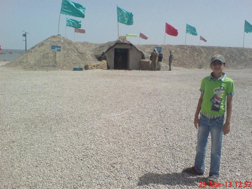 75  یادمان شهدای هور ، مقتل شهید علی هاشمی ، جزیره مجنون