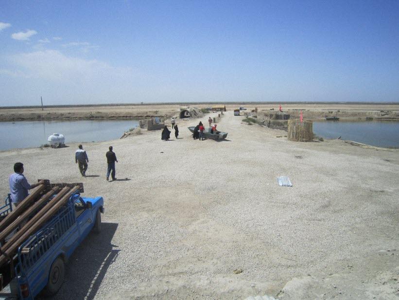 98  یادمان شهدای هور ، مقتل شهید علی هاشمی ، جزیره مجنون