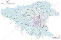 نقشه محدوده ترافیک و زوج و فرد تهران