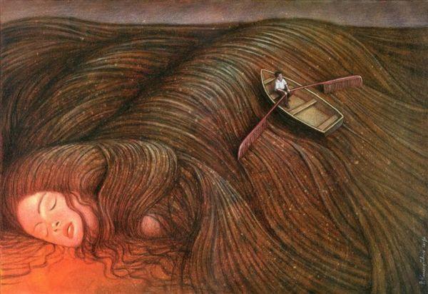 کسی با موج موهایت کنار امد به غیر از من