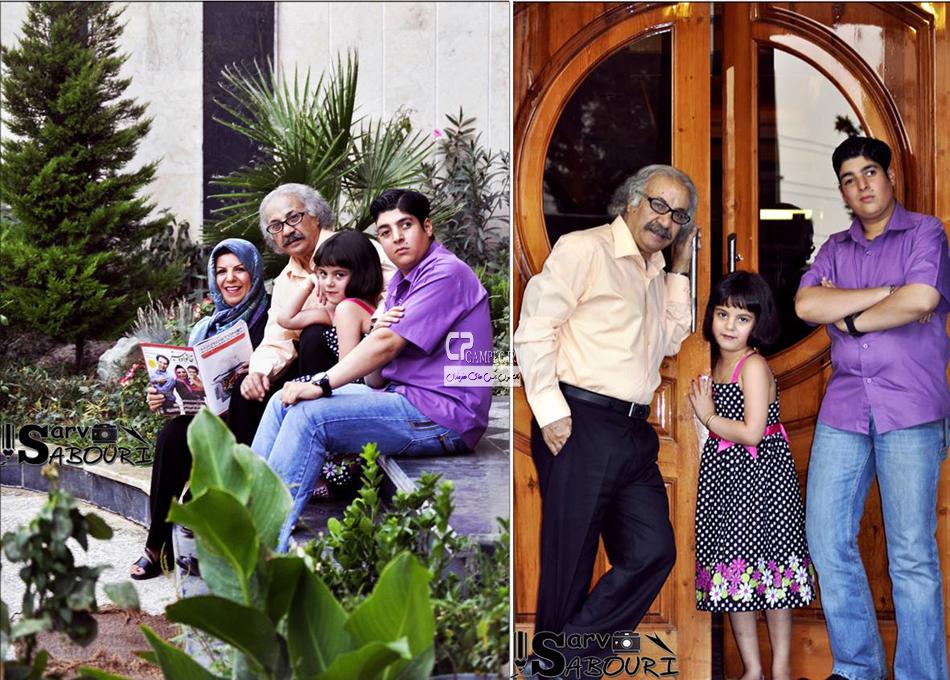 سعید پیر دوست و همسر و فرزندانش