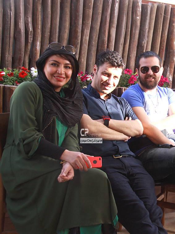 جواد عزتی و همسرش مه لقا باقری و هومن سیدی