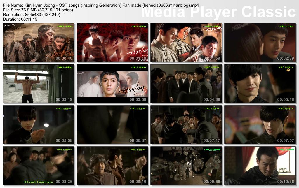 Kim Hyun Joong – OST songs (Inspiring Generation) Fan made