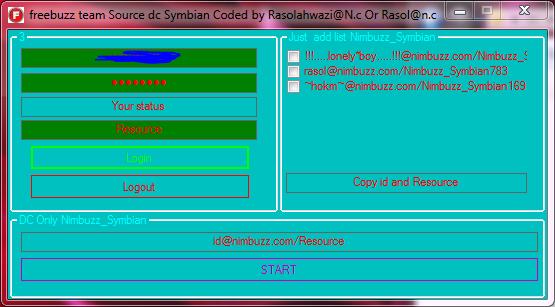 freebuzz dc any nimbuzz symbian user 01144848