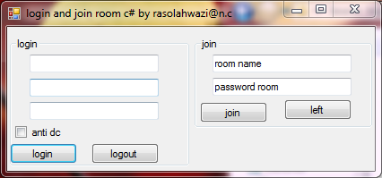 Login and Join room C# 001511