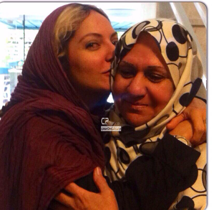 مهناز افشار و مادرش