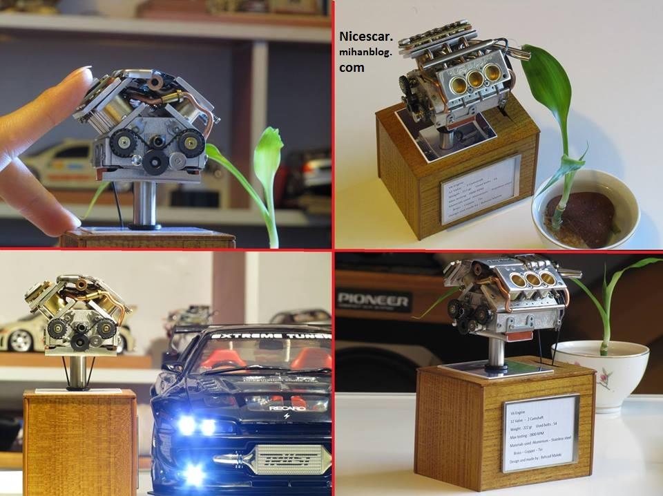 کوچکترین موتور 6 سیلندر جهان