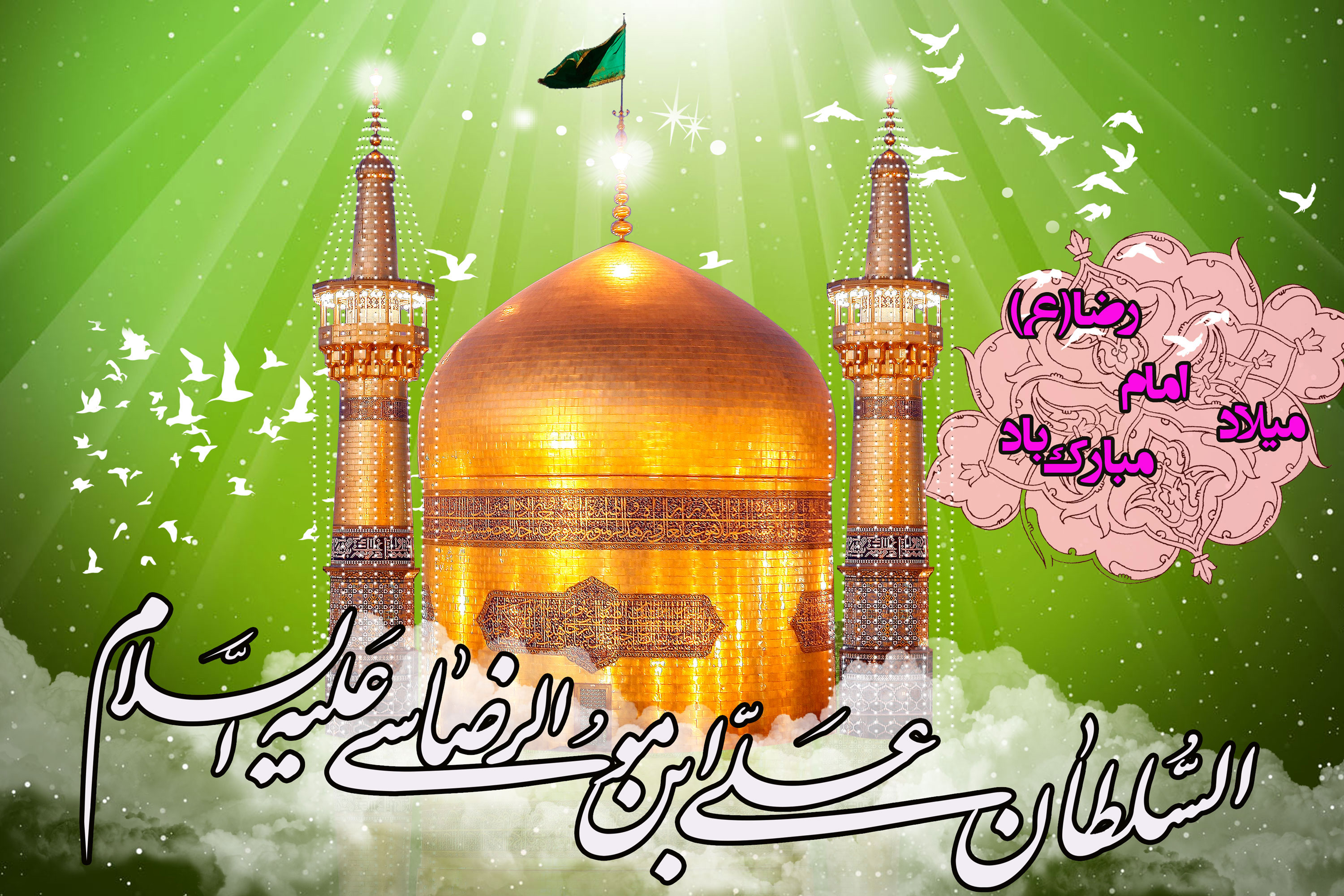 Image result for میلاد امام رضا