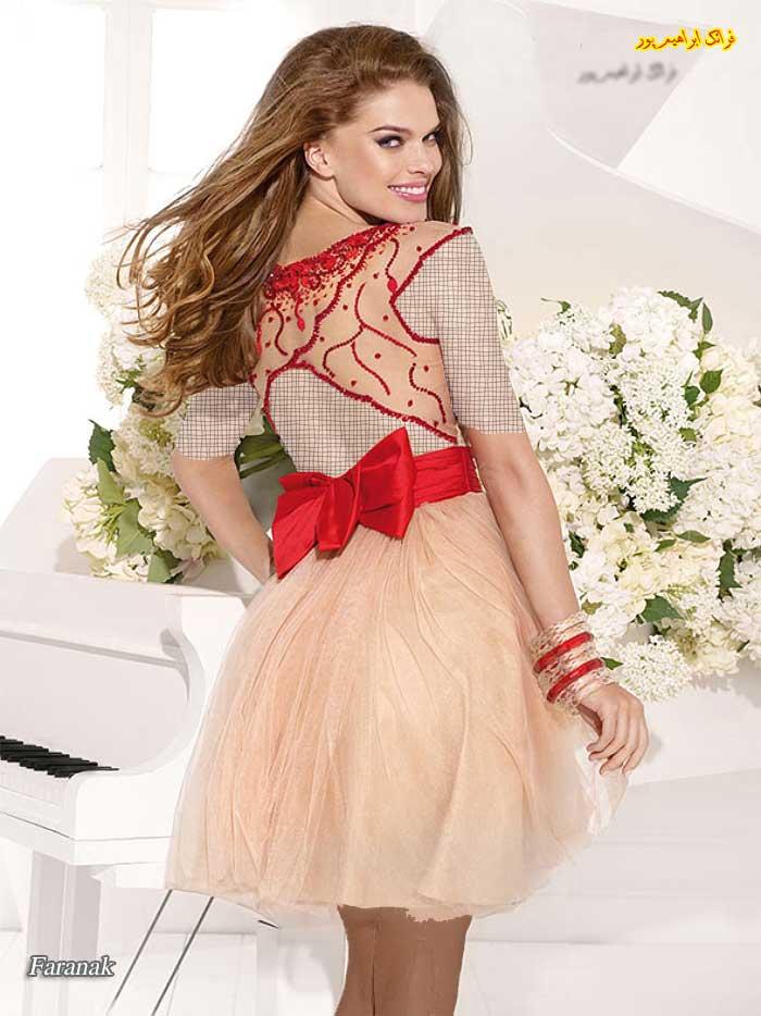 مدل لباس مجلسی کوتاه 2014 - 2