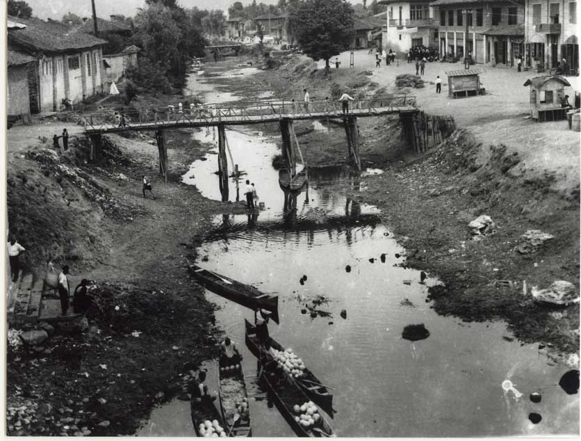 عکس قدیمی - پل چوبی لنگرود