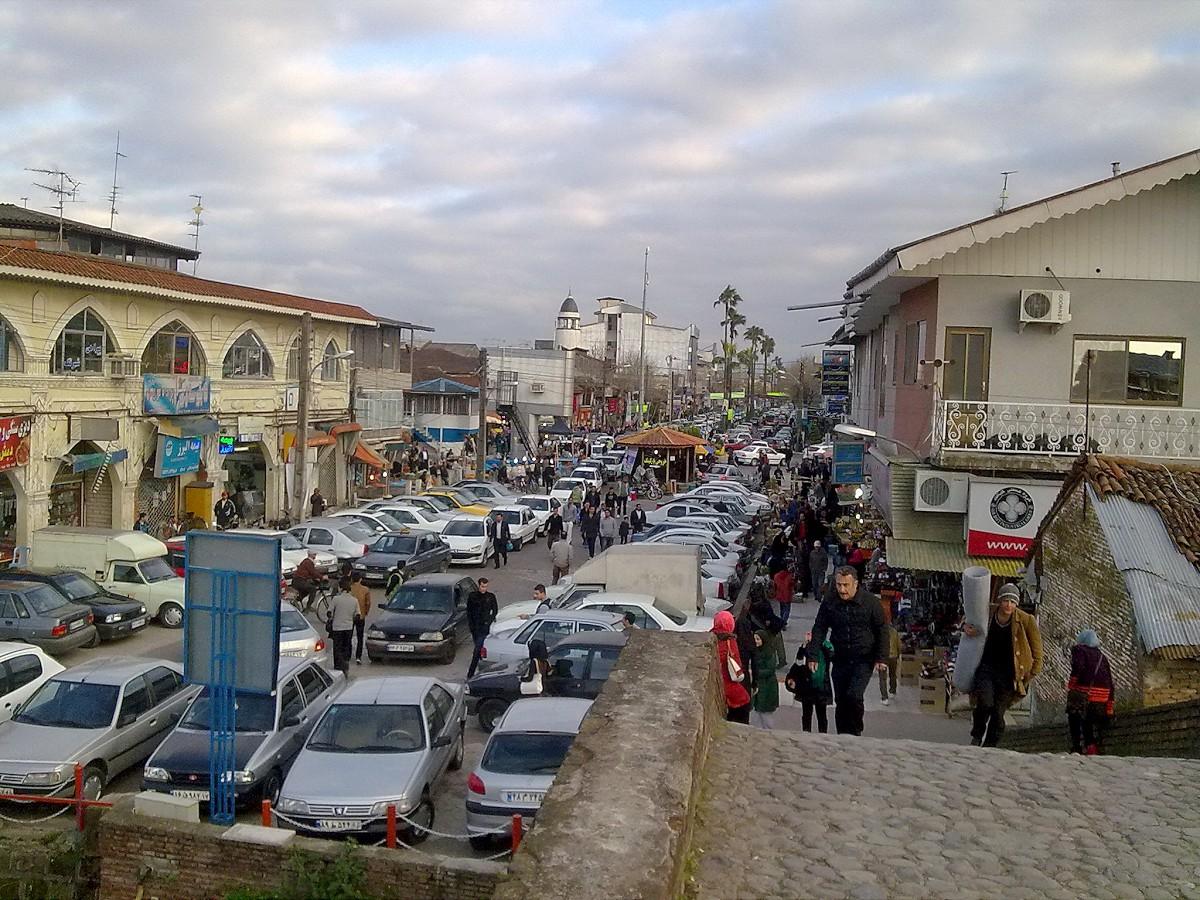 لنگرود - پارکینگ بازار