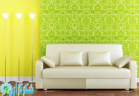عکس کاغذ دیواری_راهنمای خرید و انتخاب کاغذ دیواری_عکس کاغذ دیواری شیک_اتاق نشیمن